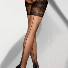 LIV269-1 Ciorapi sexy 20 DEN cu dunga si model - Livia Corsetti