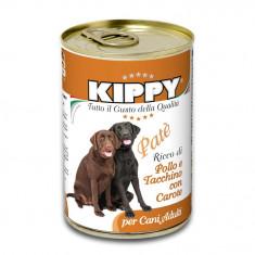 Pate Kippy dog, cu pui, curcan si morcov, 400g