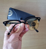 Ochelari de soare Ray Ban ClubMaster RB3016 Galben - Idei Cadouri, Unisex, Fluture, Protectie UV 100%