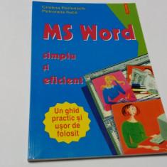 Ms Word Simplu Si Eficient - Cristina Perhinschi Petronela Iluca -RM4