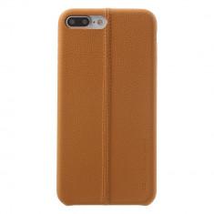 Carcasa protectie spate din piele ecologica si plastic pentru iPhone 8 Plus 7 Plus 5.5 inch