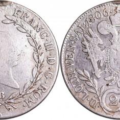 1806 - B - 20 kreuzer - Francis II - Imperiul Austriac