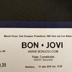 Bilet Bon Jovi, 21 Iulie 2019, Platinum VIP