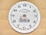 A390-I-Cadran vechi Gre Roskoph Patent Swiss portelan ceas buzunar barbat.