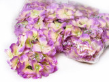 Floare artificiala Hortensia premium verde-roz