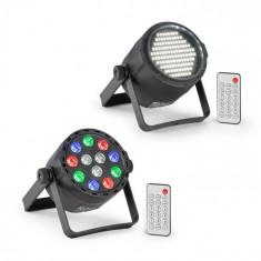 Beamz PLS15, Set V7, stroboscop cu LED-uri PLS25, lumină neagră UV, LED cu lumina reflectoarelor