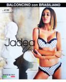 Set sutien si chiloti Jadea complet cu balconet brazilian - mod. 4139, Ivoire, Negru, L, M