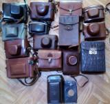 Vechi de colectie lot 15 husa aparat foto vechi zorki fed kodak agfa
