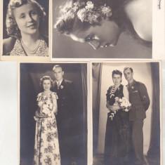 bnk foto - Lot 4 fotografii - portrete - Foto Julieta Ploiesti - anii `40