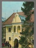 CPIB 17276 CARTE POSTALA - BRASOV. PRIMA SCOALA ROMANEASCA, Circulata, Fotografie