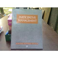 Participative management. Harvard business review (Gestiune participativă)