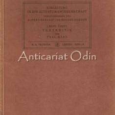 Introducere In Studiile Clasice - Alfred Gercke, Eduard Norden