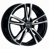 Jante RENAULT MEGANE III 7J x 17 Inch 5X114,3 et40 - Mak Icona Black Mirror - pret / buc, 7, 5