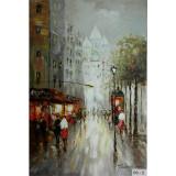 Montmartre- pictura in ulei OP-1, Peisaje, Realism