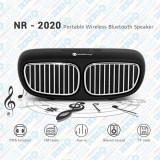 Boxă portabilă activă cu Bluetooth, radio, model BMW, 3W, alb/negru/roșu