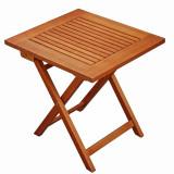 Masa fixa pentru gradina TF268, lemn, dreptunghiulara, 4 persoane, 48 x 43 x 47 cm