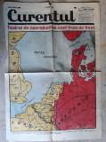 WWII - HARTA OPERATIUNI PE FRONTUL DE VEST -EXTRAS  ZIARUL CURENTUL 14 MAI 1940