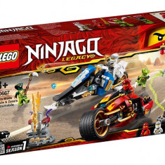 LEGO Ninjago - Vehiculele lui Kai si Zane - Motociclete Blade si snowmobilul