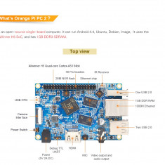 Orange Pi PC2 H5 64bit Support the Lubuntu linux and android mini PC