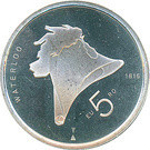 Olanda 5 Euro 2015 - Willem-Alexander (Waterloo) 29 mm KM-364 UNC !!!, Europa