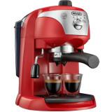 Espressor manual De'Longhi EC221.RED, Dispozitiv spumare, Sistem cappuccino, 15 Bar, 1 l, Oprire automata, Rosu, Delonghi