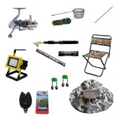 Pachet complet pescuit cu lanseta telescopica 3.6m cu mulineta si accesorii