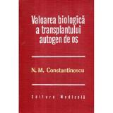 Valoarea biologica a transplantului autogen de os, M. Constantinescu