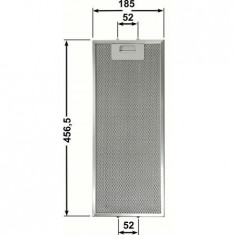Filtru de aluminiu lavabil hota Hotpoint Ariston Hotpoint AH61CMX/HA