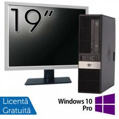 Calculator HP RP5800 SFF, Intel Core i3-2120 3.30GHz, 4GB DDR3, 250GB SATA, DVD-ROM, 2 Porturi Serial + Monitor 19 Inch + Windows 10 Pro