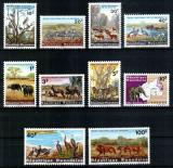 Ruanda Rwanda, Mi #104-113 A**, fauna, animale, pasari, MNH, cota 15 €!, Nestampilat