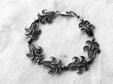 BRATARA argint TOPORASI in filigran VECHE manopera EXCEPTIONALA de efect RARA