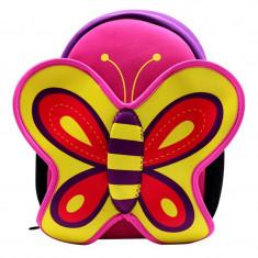 Ghiozdan fetite, 22 x 12 x 31 cm, model fluture, Fata