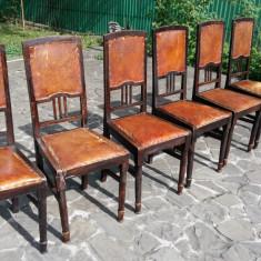 8 scaune vechi lemn, antice