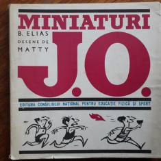 Miniaturi J.O. - B. Elias, caricaturi Matty Aslan / R2P5F