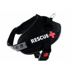 Ham pentru câini Rescue S 45 - 55 cm, negru