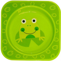 Farfurie Adanca Decorata Baby Care Green Frog