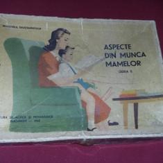 joc vechi 1963,,ASPECTE DIN MUNCA MAMELOR,,17 planse superbe,de colectie,T.GRAT