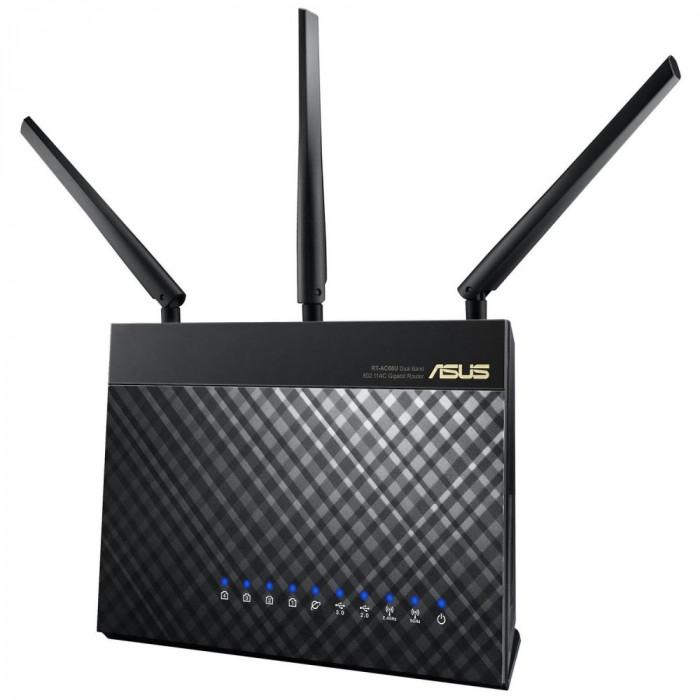 ASUS, Router Wireless AC1900 Dual-band 1300+600 Mbps, 2.4GHz/5GHz concurrent, Gigabit, Dual-core Pro