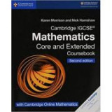 Cambridge IGCSE® Mathematics Coursebook Core and Extended Second Edition with Cambridge Online Mathematics (2 Years) - Karen Morrison, Nick Hamshaw