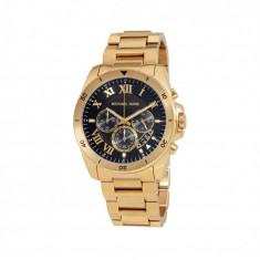 Ceas Michael Kors Brecken,chronograph,barbatesc - Nou, Lux - elegant, Quartz, Placat cu aur