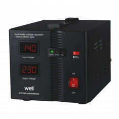 Stabilizator automat de tensiune Well, servo motor Secure, 500 VA