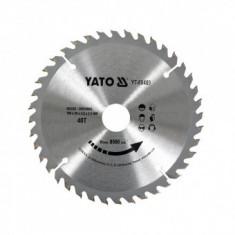 Disc pentru lemn Yato YT-60489, 190x30x3 mm, 40 dinti, pastile vidia