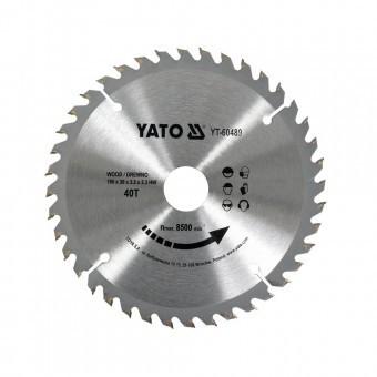 Disc pentru lemn Yato YT-60489, 190x30x3 mm, 40 dinti, pastile vidia foto