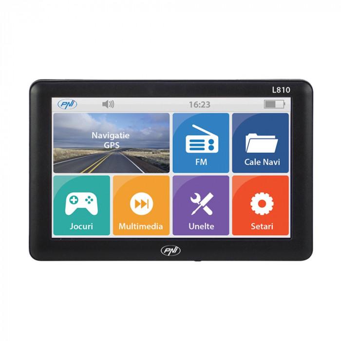 Navigatie GPS Pni 7 inch 8GB Memorie Interna + Harta Europa 2020 Autoturism si TIR Modulator FM