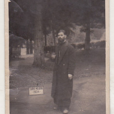 bnk foto - Slanic Moldova - Preot in parc - 1934