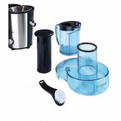 Storcator de fructe si legume Bosch MES3500, 700 W, Recipient suc 1.25 l, Recipient pulpa 2 l, 2 Viteze, Tub de alimentare 73 mm, Albastru/Argintiu