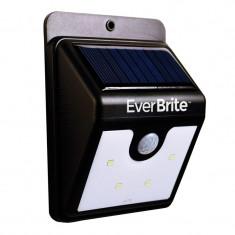 Lampa cu incarcare solara si senzor Ever Brite, 4 x LED
