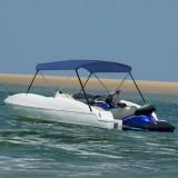 Parasolar barcă Bimini cu 2 arcuri, bleumarin, 180x130x110 cm, vidaXL