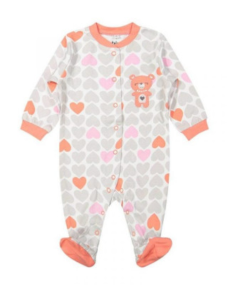 Salopeta / Pijama bebe cu inimioare Z04 foto