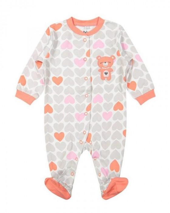 Salopeta / Pijama bebe cu inimioare Z04